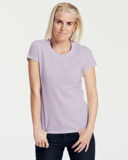 Lys Lilla slightly fitted t-skjorte - 100 % økologisk bomull » Etiske & økologiske klær » Grønt Skift