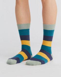 Gule, blå og lysegrønne sokker - økologisk bomull » Etiske & økologiske klær » Grønt Skift