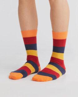 Oransje, røde, blå og gule sokker - økologisk bomull » Etiske & økologiske klær » Grønt Skift