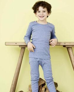 Blå melange trøye i 100 % økologisk bomull » Etiske & økologiske klær » Grønt Skift