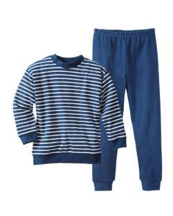 Navy og hvit stripete pysjamas - 100 % økologisk bomull » Etiske & økologiske klær » Grønt Skift