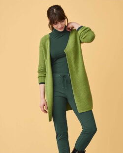 Avocadogrønn ullcardigan - økologisk ull/bomull mix » Etiske & økologiske klær » Grønt Skift