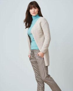 Gråbeige ullcardigan - økologisk ull/bomull mix » Etiske & økologiske klær » Grønt Skift