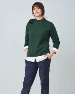 Mørkegrønn ullgenser - 100 % økologisk ull » Etiske & økologiske klær » Grønt Skift