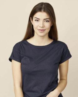 Mørkeblå t-skjorte - økologisk bomull og bambusviskose » Etiske & økologiske klær » Grønt Skift