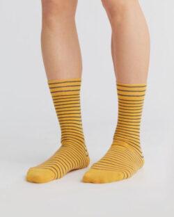 Gule og mørkeblå sokker - økologisk bomull » Etiske & økologiske klær » Grønt Skift