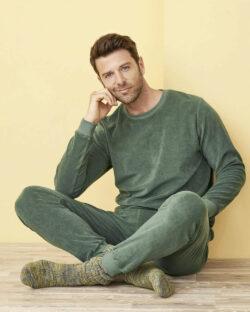 Grønn frotté pysjamas - 100 % økologisk bomull » Etiske & økologiske klær » Grønt Skift