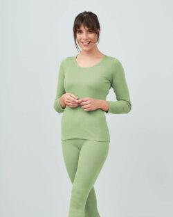Pistasjgrønn trøye - 100 % økologisk bomull » Etiske & økologiske klær » Grønt Skift