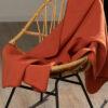 Brunoransje fleecepledd i 100 % økologisk bomull » Etiske & økologiske klær » Grønt Skift