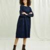 Navy kordfløyel kjole - 100 % økologisk bomull » Etiske & økologiske klær » Grønt Skift