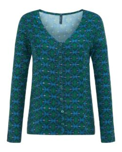 Blå og grønn bluse - 100 % EcoVero™ viskose » Etiske & økologiske klær » Grønt Skift