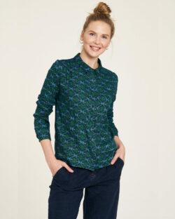 Blå og grønn skjorte - 100 % EcoVero™ viskose » Etiske & økologiske klær » Grønt Skift