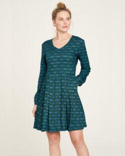 Blå og grønn kjole - 100 % EcoVero™ viskose » Etiske & økologiske klær » Grønt Skift