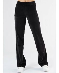 Svart velur kosebukse med vide ben i 100 % økologisk bomull » Etiske & økologiske klær » Grønt Skift