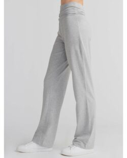 Gråmelert bukse med bredt midjebånd – økologisk bomull » Etiske & økologiske klær » Grønt Skift