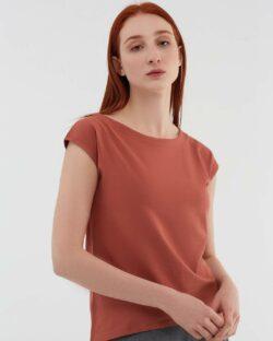 Rustrød bluse - økologisk bomull » Etiske & økologiske klær » Grønt Skift