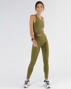 Militærgrønn leggings - økologisk bomull » Etiske & økologiske klær » Grønt Skift