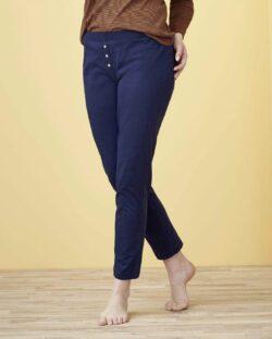 Mørkeblå pysjbukse - 100 % økologisk bomull » Etiske & økologiske klær » Grønt Skift