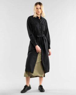 Svart skjortekjole - 100 % økologisk bomull » Etiske & økologiske klær » Grønt Skift