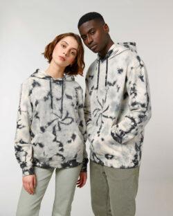 Hvit og svart unisex hettegenser - 100 % økologisk bomull » Etiske & økologiske klær » Grønt Skift