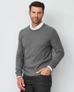 Gråmelert genser - 100 % økologisk bomull » Etiske & økologiske klær » Grønt Skift