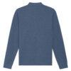Gråblå unisex polo genser - 100 % økologisk bomull » Etiske & økologiske klær » Grønt Skift