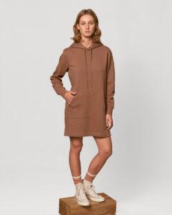 Brun hettekjole - økologisk bomull » Etiske & økologiske klær » Grønt Skift