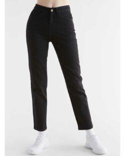Evermind dongeribukse - Regular Fit - Coal Black - økologisk bomull » Etiske & økologiske klær » Grønt Skift
