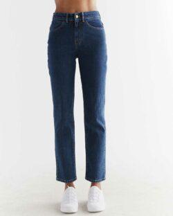 Evermind dongeribukse - Straight Fit - Lapis Blue - økologisk bomull » Etiske & økologiske klær » Grønt Skift