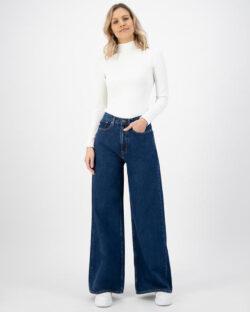 MUD jeans - Wyde Sara - Stone Indigo jeans i økologisk bomull » Etiske & økologiske klær » Grønt Skift
