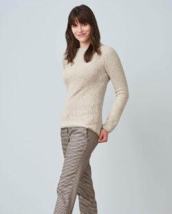 Gråbeige genser - økologisk ull og økologisk bomull » Etiske & økologiske klær » Grønt Skift