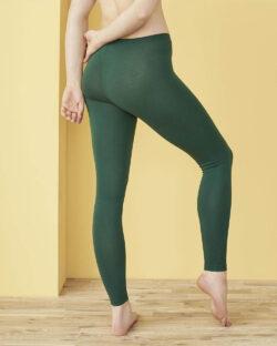 Mørkegrønne Annedore leggings - økologisk bomull » Etiske & økologiske klær » Grønt Skift