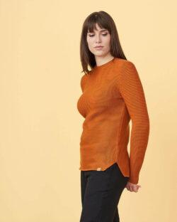 Brunoransje genser - 100 % økologisk bomull » Etiske & økologiske klær » Grønt Skift