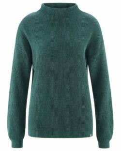 Mørkegrønn høyhalset genser - hamp og økologisk bomull » Etiske & økologiske klær » Grønt Skift