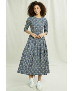 Mønstret midikjole - 100 % økologisk bomull » Etiske & økologiske klær » Grønt Skift