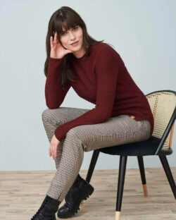 Burgunder genser - 100 % økologisk bomull » Etiske & økologiske klær » Grønt Skift