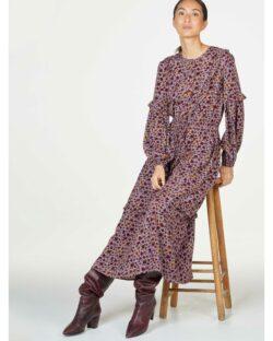Mønstret maksikjole - Ecovero » Etiske & økologiske klær » Grønt Skift