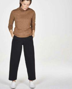 Brun høyhalset genser - 100 % økologisk bomull » Etiske & økologiske klær » Grønt Skift