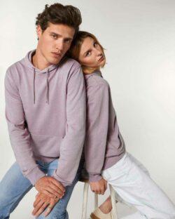 Unisex utvasket lilla hettegenser - 100 % økologisk bomull » Etiske & økologiske klær » Grønt Skift