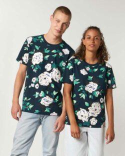 Unisex t-skjorte med blomster - 100 % økologisk bomull » Etiske & økologiske klær » Grønt Skift