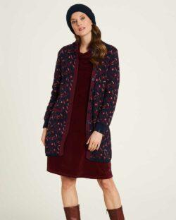 Lang cardigan med mønster - 100 % økologisk bomull » Etiske & økologiske klær » Grønt Skift