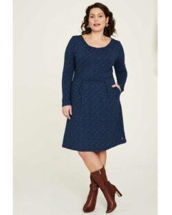 Blå kjole med mønster - økologisk bomull » Etiske & økologiske klær » Grønt Skift
