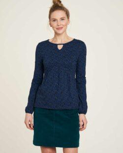 Blåmønstret topp - økologisk bomull » Etiske & økologiske klær » Grønt Skift