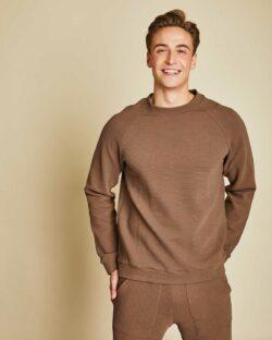 Naturbrun ribbet genser - økologisk bomull » Etiske & økologiske klær » Grønt Skift
