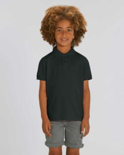 Svart polo t-skjorte - 100 % økologisk bomull » Etiske & økologiske klær » Grønt Skift