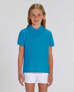 Turkis polo t-skjorte - 100 % økologisk bomull » Etiske & økologiske klær » Grønt Skift