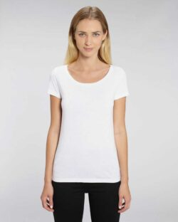Hvit t-skjorte med rund hals - økologisk bomull og modal » Etiske & økologiske klær » Grønt Skift