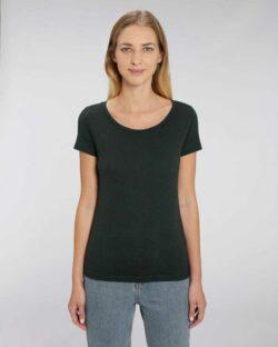 Svart t-skjorte med rund hals - økologisk bomull og modal » Etiske & økologiske klær » Grønt Skift