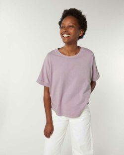 Steinvasket lys lilla t-skjorte - 100 % økologisk bomull » Etiske & økologiske klær » Grønt Skift