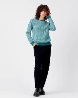 Smaragdgrønn genser - økologisk bomull og tencel » Etiske & økologiske klær » Grønt Skift